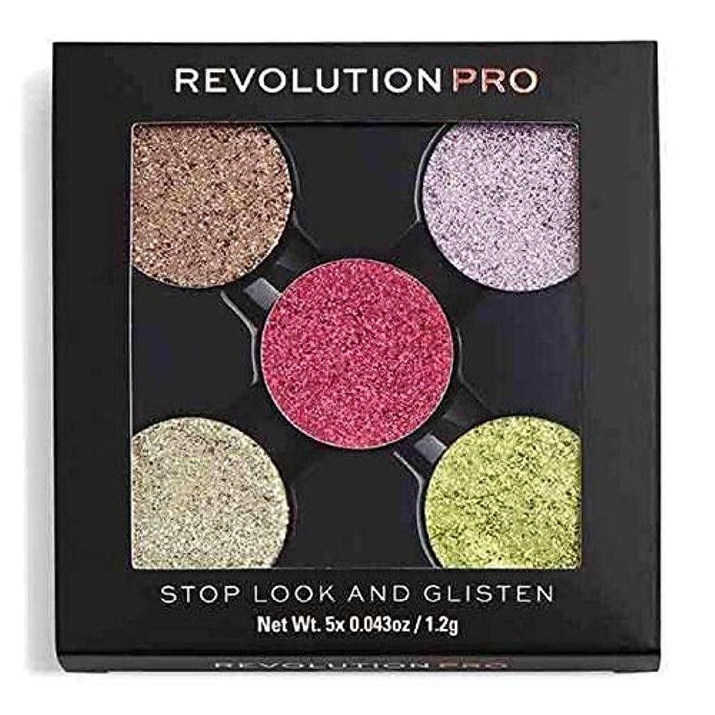 後世ジャムインタラクション[Revolution ] 革命のプロが見て、光る、キラキラパックストップを押します - Revolution Pro Pressed Glitter Pack Stop, Look and Glisten [並行輸入品]