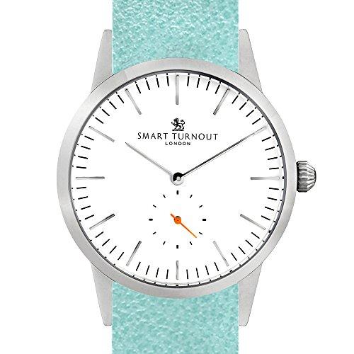 Smart Turnout Herren Analog Quarz Uhr mit Leder Armband STK3/WH/56/W-Mint