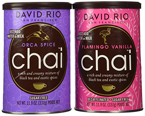 David Rio Chai Mix, Sugar Free 2 Canister Variety Pack, 11.9 Oz
