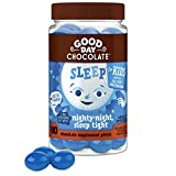 Good Day Chocolate Natural Melatonin for Kids, Sleep Aid Supplement with 1mg of Melatonin and 2g of Sugar, 80 Pieces