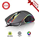 KLIM Aim Mouse da Gaming Chroma RGB - con Cavo USB - Regolabile da 500 a 7000...