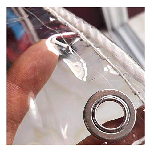 SHIJINHAO Lonas Impermeables Exterior Cubierta De Planta Lona Transparente Lona De Plástico De PVC Impermeable con Ojales, Cubierta De Hojas De Plantas De Flores Resistente A La Lluvia, 420 G/M², 27