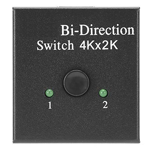 Agatige Conmutador Bidireccional Hdmi Convertidor Bidireccional Hdmi El Divisor Hdmi Admite HDTV, Reproductor, para Caja De TV Inteligente.(Negro)