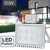 50W Faretto LED per Esterno con Sensore di Movimento, Luce Bianca (6000K) Faro Esterni, 5000 LM,IP67 Impermeabile LED Esterno, Illuminazione per Parcheggio, Ingresso, Corridoio, Garage Ankishi
