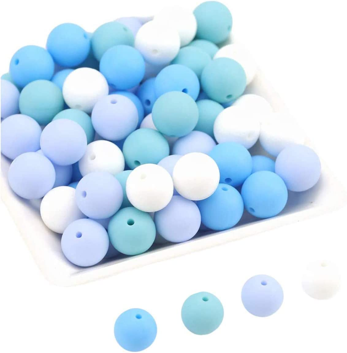 Promise Easy-to-use Babe Silicone Beads New York Mall 100pc 12mm DIY Jewelry Brac Necklace