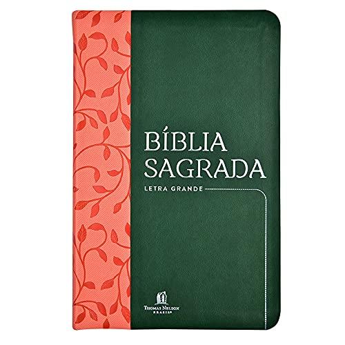 Bíblia Sagrada NVI, Couro Soft, Verde, Letra Grande, Leitura Perfeita