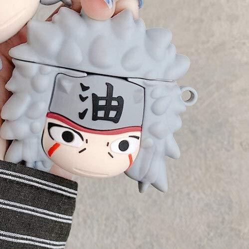 Funda para AirPods con diseño de anime japonés Naruto Ninja Jiraiya Tsunade Orochimaru para Airpods 3 2 1 Pro Wireless Bluetooth Auricular Cover Accesorios (color: amarillo oscuro)