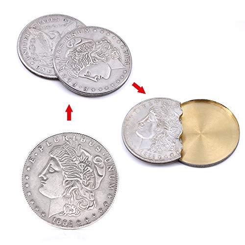 Supper Copper Flipper Coin Butterfly Morgan Dollar Coins Magic Accessories Professional Magic Tricks Magicians Props Gimmick