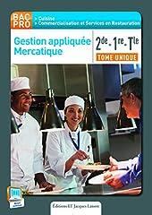 Gestion appliquée, mercatique 2e 1e Term Bac pro cuisine - Elève de NATHALIE MONTARGOT