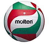 MOLTEN - Pelota de Voleibol (sintética, Cosida a Mano), Color Blanco