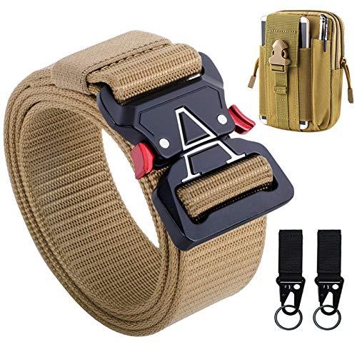 Tactical Belt, Military Belt Heavy Duty Men's Tactical Belts with Tactical Belt Accessories Pouch &...