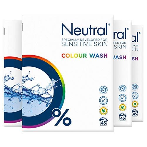 Neutral Waspoeder Kleur Parfumvrij 4 x 45 wasbeurten Voordeelverpakking