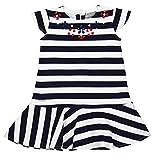 boboli 723271-9436 Vestido, Azul (Estampado Rayas), 6 años para Niñas