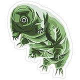 Story Storm Store Tough but Cute Tardigrade Water Bear Stickers (3 Pcs/Pack)