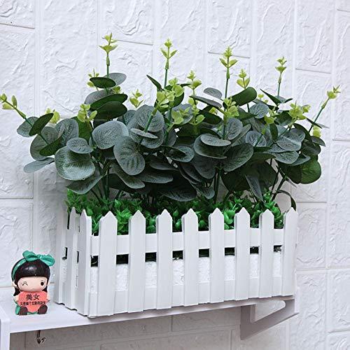 Kunstbloem plastic bloem Kunstmatige groene plant Fake Plant Garden Fence Raamdecoratie Kunstmatige hangplanten: 6