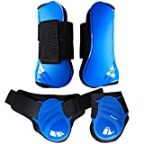 STORMER Professional's Choice Horse Hoof Protective Boots Front Hind Boots Legs for Horse Jumping Boots 2 Pairs (Blue M)