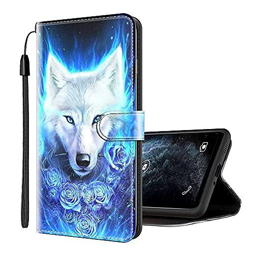 Sinyunron Handy Schutzhülle Kompatibel mit TP-Link Neffos X1 Lite Hülle Handy Tasche Hülle Handyhülle Lederhülle mit Kartenfächer,Ständer,Magnetverschluss,Hülle02C