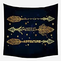 Dreamcatcher Tapestry Feather Tapestry Wallぶら下がっている装飾 726 (Color : CGT014 16, Size : 95X73CM)