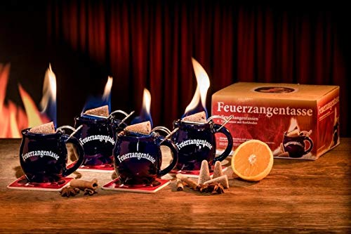 Feuerzangentasse 4er-Set black - smart