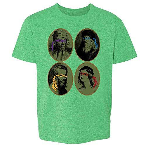 Italian Renaissance Ninja Artists Parody Funny Heather Irish Green 6 Toddler Kids Girl Boy T-Shirt