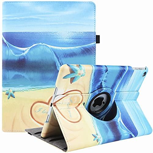 Funda para iPad mini 5 y iPad mini 4 (modelo 2019/2015, 5ª/4ª generación), 360 grados de rotación multiángulo de visualización con función atril y apagado automático (Ocean Love)