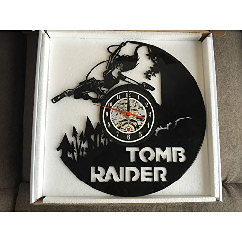 Makeyong Graf Raider Gift Wandklok Vinyl Record Art Decor Vintage, Wandklok Saat Alarm Klok Grote Wandklok