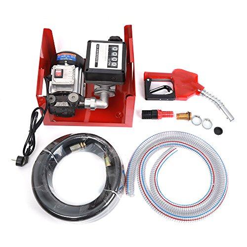 POPSPARKk Dieselpumpe Ölabsaugpumpe 230V/550W 60l/min selbstansaugend Heizölpumpe Set