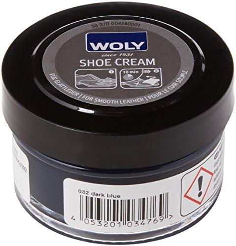 Woly Shoe Cream, Betún y reparación de zapatos Unisex Adulto, Azul (Dark Blue), 50.00 ml