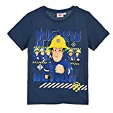 Feuerwehrmann-Sam T-Shirt Jungen Shirt  Dunkelblau