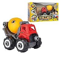 ABS玩具、建設玩具キット - アセンブリ玩具掘削機の建設、ディガー車遊びセットドライバー、幼児のための理想的な教育玩具誕生日、男の子&女の子3,4,5,6 (Color : Cement truck)