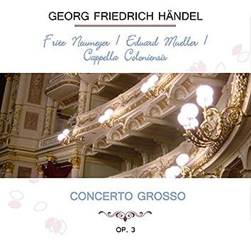 Fritz Neumeyer / Eduard Müller / Cappella Coloniensis Play: Georg Friedrich Händel: Concerto Grosso, OP. 3 (Live)