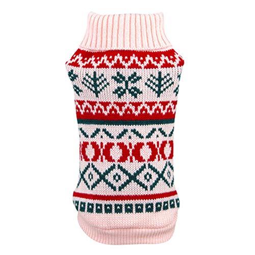 BHNDALB Hundepullover Für Den Herbst Winter Warm Stricken Häkeln Kleidung Für Hund Chihuahua Dackel Klassische Hundekleidung Für Kleine Hunde