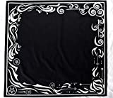 Tarot Cloth for Any Tarot Cards: Wind, Fire, Earth, Water, Large 24 Inches x 24 Inches, Black, Velvet