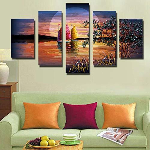 aicedu Pangoo Moderna Moda Frameless 5 Pannello Home Decor Tela Pittura Paesaggio Decorativo Stampe Immagini A Parete per Soggiorno
