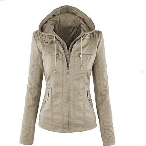 tidecc women hooded biker jacket