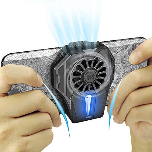 YOUPOU Ventilador de enfriamiento del radiador del teléfono móvil, con función de carga inalámbrica de 5 W para Android, no hay necesidad de preocuparse por ponerse caliente al jugar varios juegos