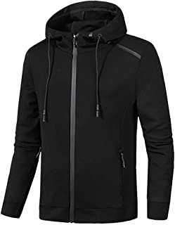 Easytoy Men's Jackets with Hood Casual Zipper Sweatershirt Hoodie Jacket Coat