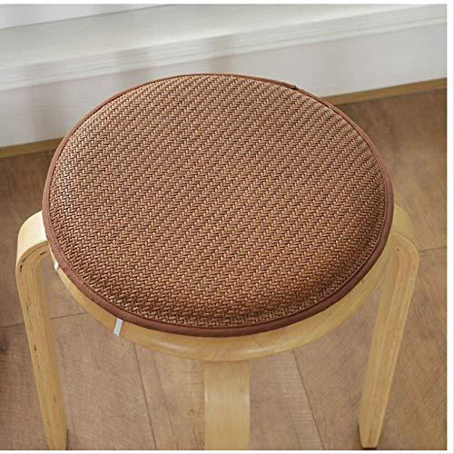 Rundes Stoff-Sitzkissen zum Binden Home Decoration Schaumstoff-Stuhlkissen Rundes Sitzpolster Rutschfestes Büro-Sitzkissen Home Textile