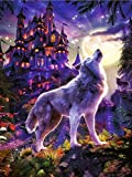 YHZSML DIY 5D Kits De Pintura Diamante Taladro Completo_Animal Lobo Diamond Painting Kits 40x50cm_DIY Pintura al oleo por Bordado Punto de Cruz Decoracion Regalo