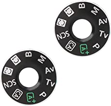 2 Pieces Top Cover Function Dial Mode Plate Interface Nameplate Cap Label for Canon EOS 6D Digital Camera Repairing Parts + Tape