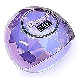 Máquina de fototerapia LED Lámpara de uñas con sensor inteligente Secador de uñas con lámpara LED ultravioleta 86w, para manicura con 39 leds, secado rápido, luz para todos los esmaltes de uñas