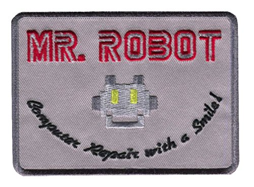 Titan One Europe Mr Robot Computer Repair with a Smile Patch Iron On Aufnäher Aufbügler