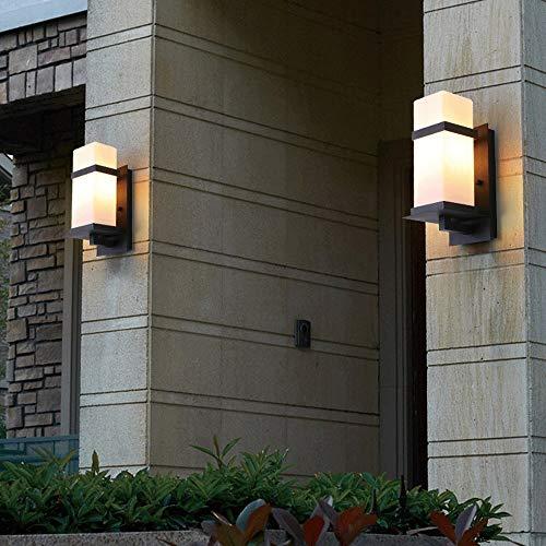 Lámpara de pared exterior tradicional prueba de lluvia y prueba de herrumbre aplique E27 Titular de aleación de aluminio de pared exterior de la linterna Escalera Pasillo colgar de la pared de la lámp