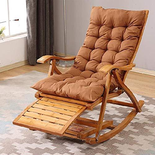 WUTONG Garden Relax Schaukelstuhl, Holzliege, tragbarer Klappstuhl, ergonomisch gestaltete S-förmige Rückenlehnen-Passform, Schwerelosigkeit