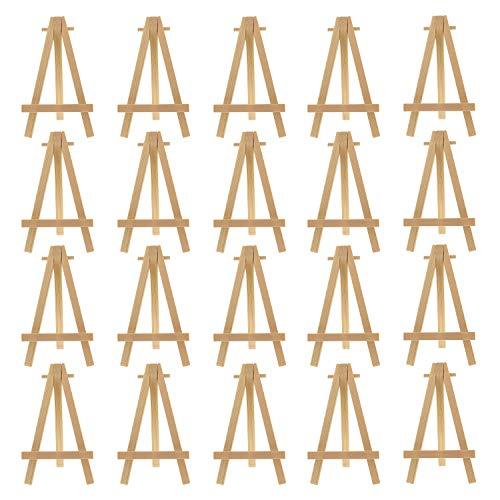 Cettkowns - Caballete de madera (20 unidades, 15,24 cm), diseño de caballete de madera