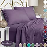 Mejoroom Full Size Sheet Set,Extra Soft Luxury Brushed Microfiber 1800 Egyptian Sheets with 15-inch Deep Pocket - Breathable Wrinkle Fade Stain Resistant Hypoallergenic - 4 Piece (Full, Purple)