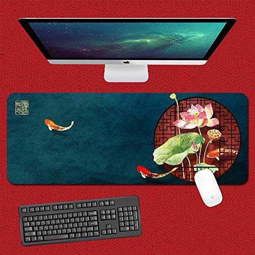 yinying Alfombrilla de ratón para Juegos,Alfombrilla de ratón Impermeable, Alfombrilla de Escritorio Retro de la Cultura China-Antigüedad 3_800x300mm_4 mm