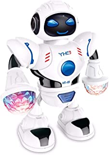 WenToyce Elecronic Robot Toy Smart Space Dancing Robot Toy Robot Walking Dancing Singing Robot with Musical and Colorful Flashing Lights