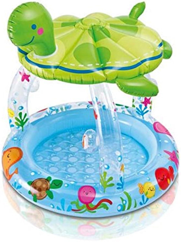 Folding Bathtub NAUY@ Turtles Baby Shade Pool Inflatable Swimming Pool Round Play Pool Thickening Baby Bath Bathroom Fixtures