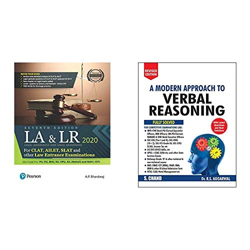Legal Awareness and Logical Reasoning 2020 | CLAT, AILET, SLAT and Other Law Entrance Examiations | Useful for PU,DU,BHU,KU,HPU,AIL | Seventh Edition ... Reasoning (2 Colour Edition)(Set of 2 books)